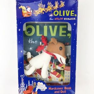 Olive the Other Reindeer Book & Plush Box Set